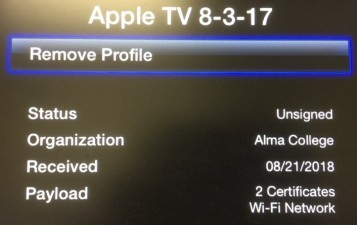 How To Remove ACWLAN Profile from Apple TVs