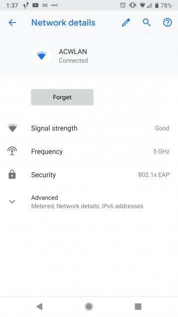 How To Connect an Android Device to ACWLAN