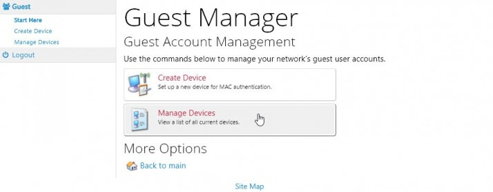 Guest Manager screen