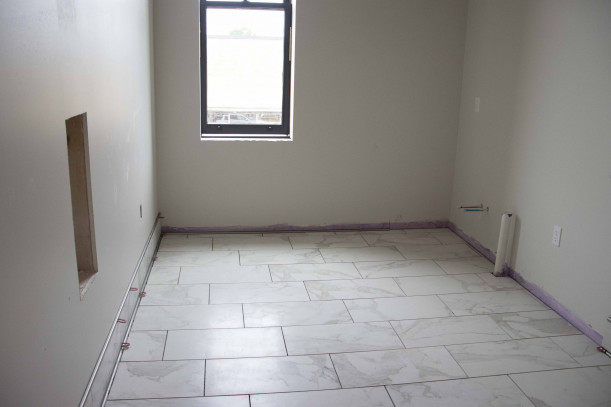 Tiling on the second floor