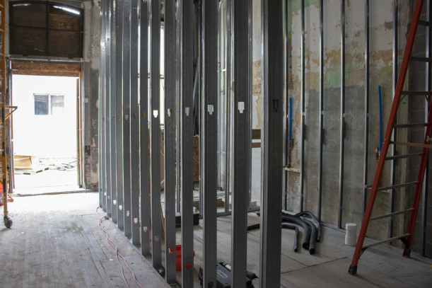 Framing in first floor lobby