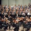 Alma Symphony Orchestra and Alma College choirs.