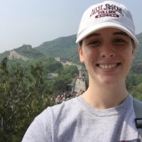 Annie Burns on the Great Wall of China.