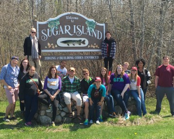 Our spring term class on Contemporary Native Communities of Michigan visited Sugar Island in Sault Ste. Marie.