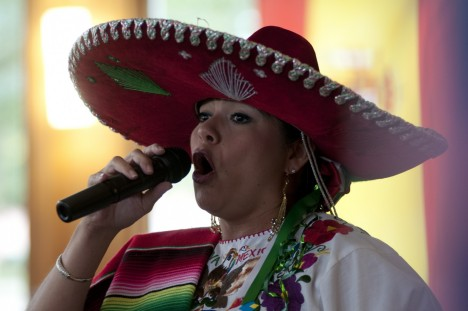 A performer at the Fiesta Baile during Hispanic Heritage Month in 2011.