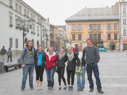 German students in Krakow, May 2014