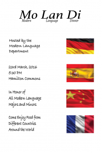 In Celebration of our Majors and Minors: Come and enjoy food from different cultures
