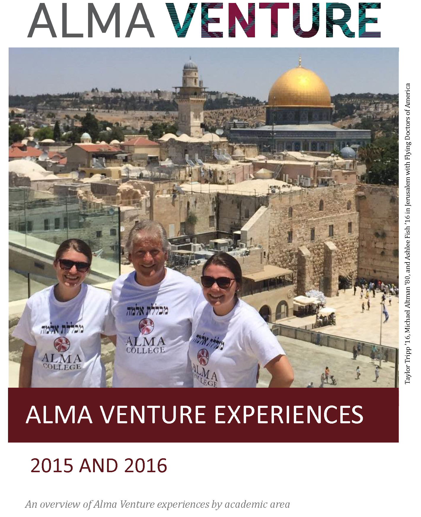 Students with the Flying Doctors of America program on the cover of our 2015-2016 Venture experiences overview.