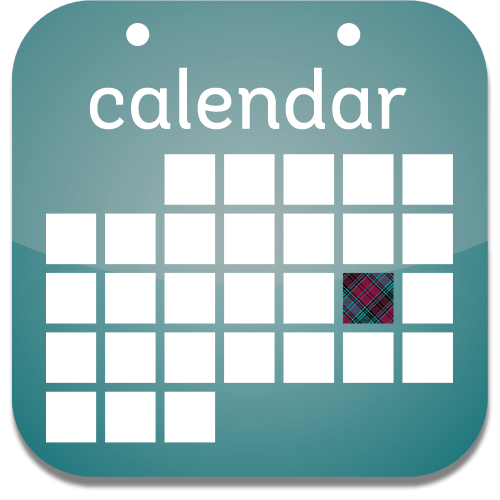 Icon to launch the Alma College calendar of events